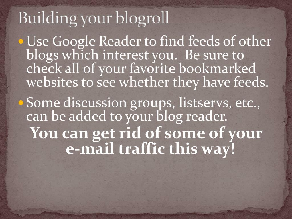 Building your blogroll