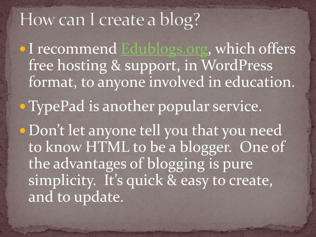 How can I create a blog?