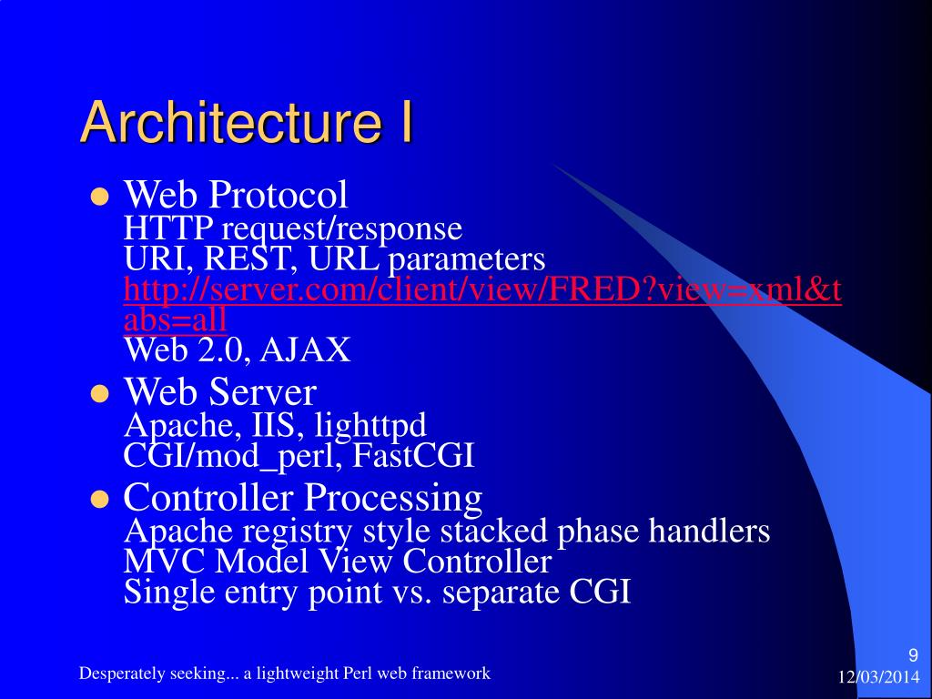 Architecture I