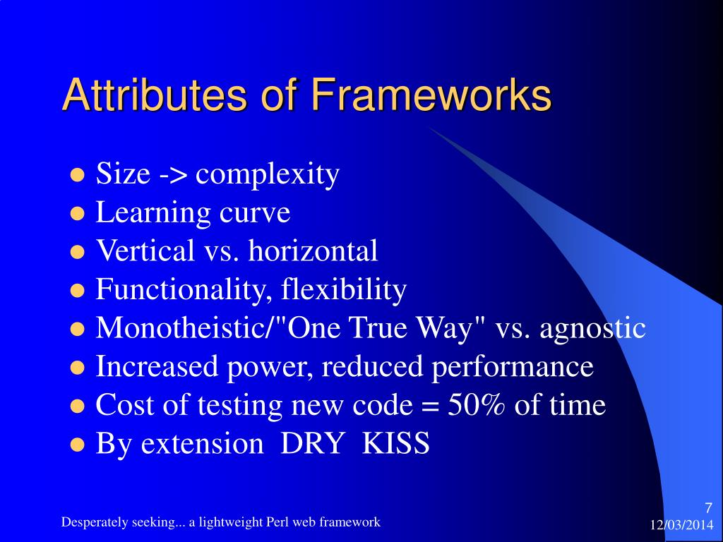 Attributes of Frameworks