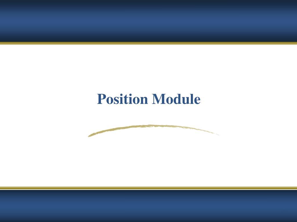 Position Module