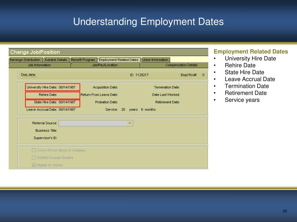 Understanding Employment Dates