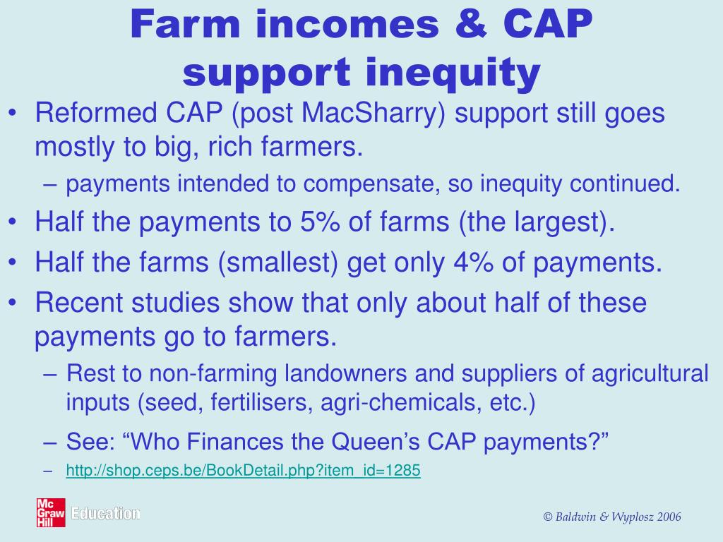 Farm incomes & CAP support inequity