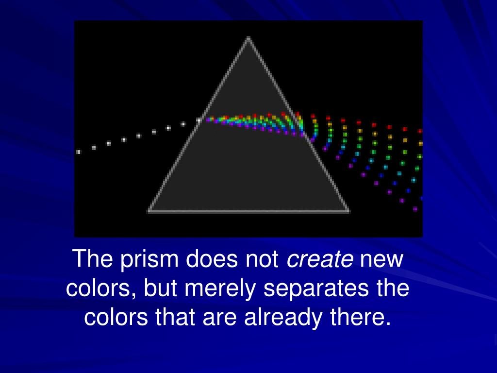 The prism does not