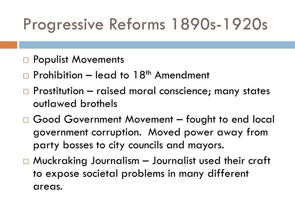 progressivism as an attempt of social reform in the united states Progressivism - the intellectual framework and practice of social reformers - grew out of the response to the social crisis which accompanied the spread of industrial capitalism during the late years of the 19th century.
