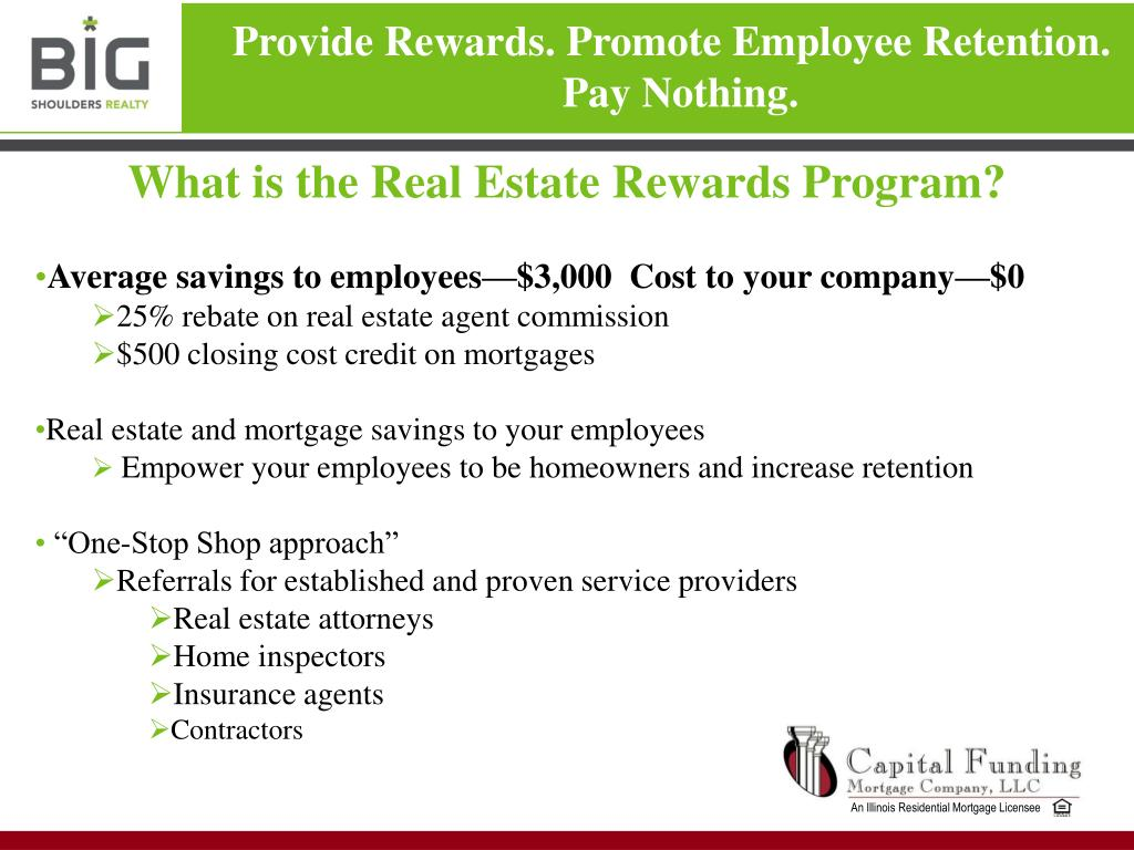 What is the Real Estate Rewards Program?