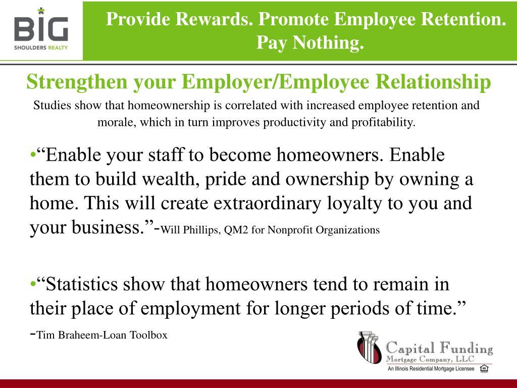 Strengthen your Employer/Employee Relationship