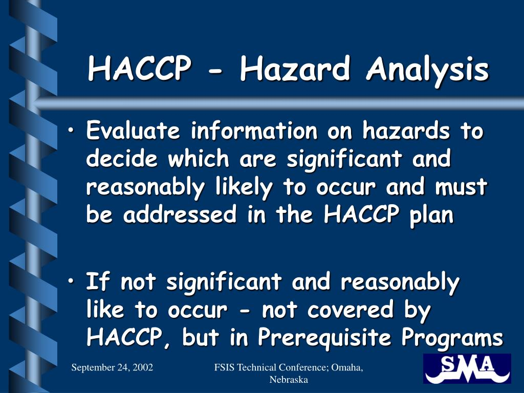 HACCP - Hazard Analysis