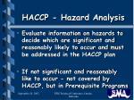 haccp hazard analysis7