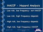 haccp hazard analysis8