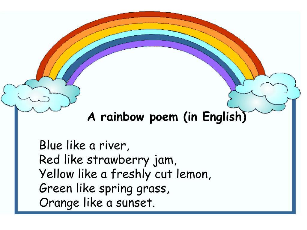 A rainbow poem (in English)