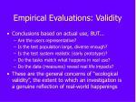 empirical evaluations validity