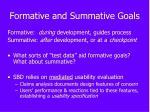 formative and summative goals