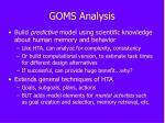 goms analysis