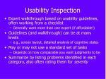 usability inspection