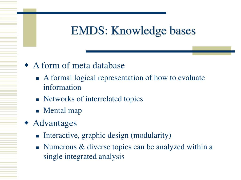 EMDS: Knowledge bases