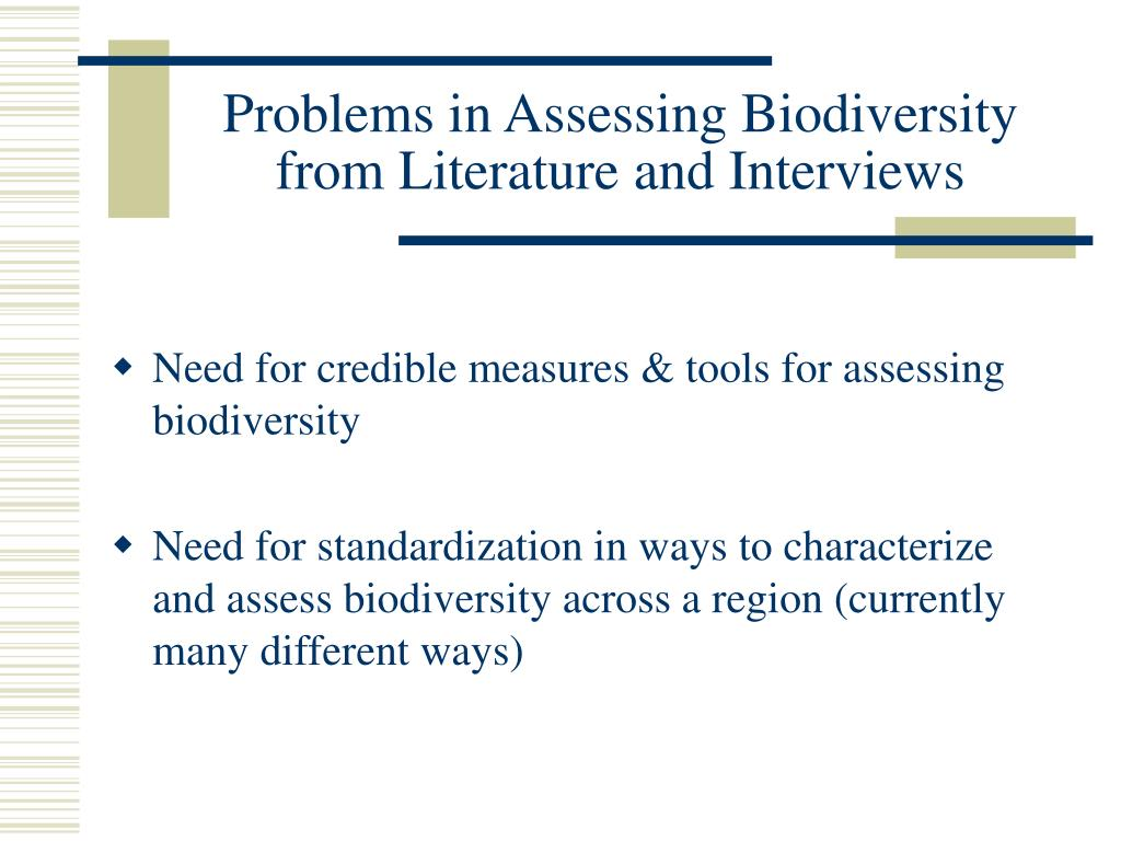 Problems in Assessing Biodiversity from Literature and Interviews