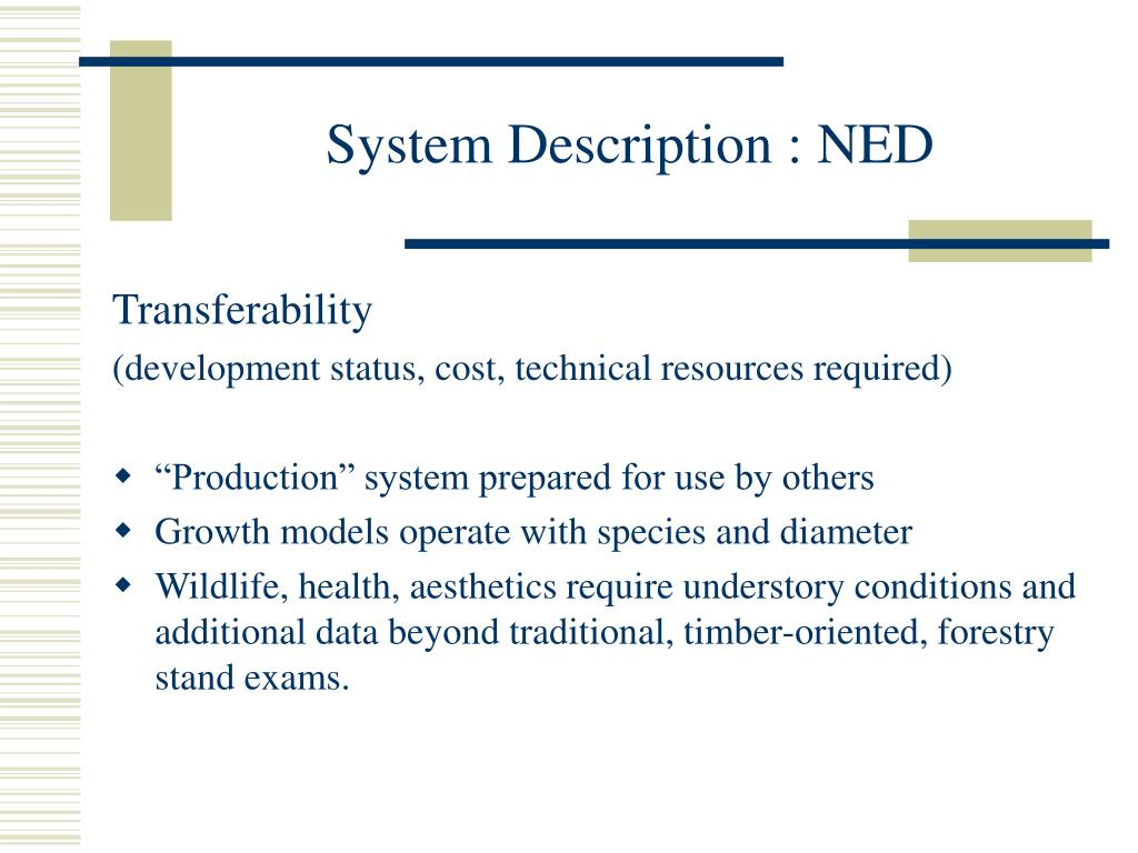 System Description : NED