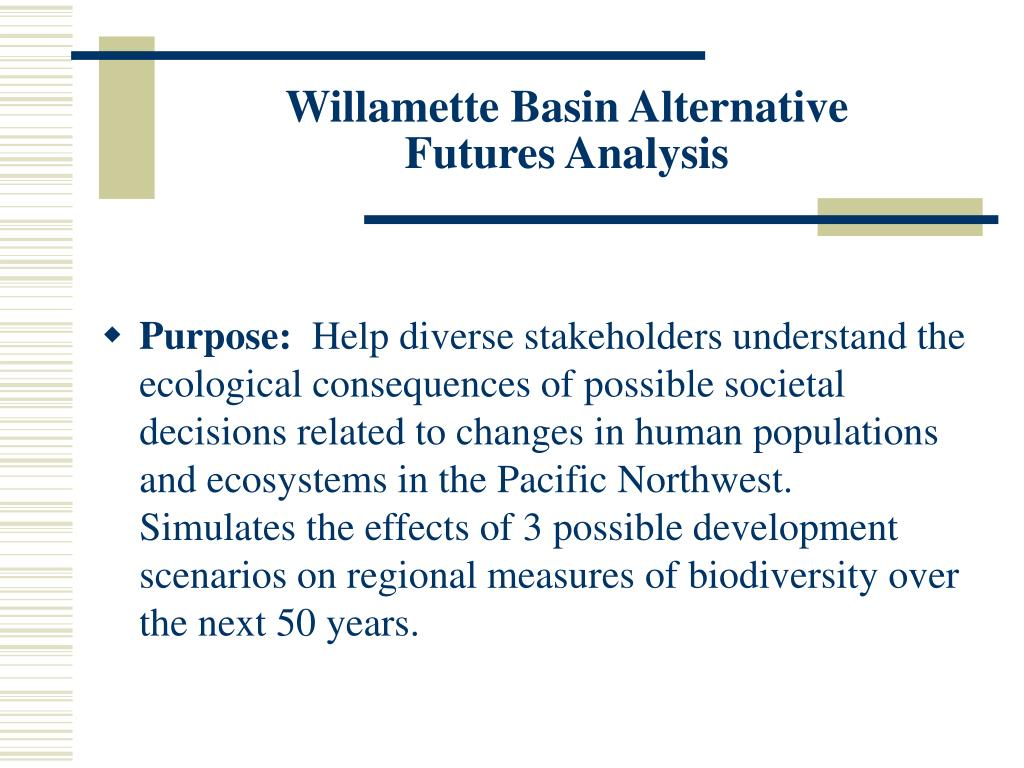 Willamette Basin Alternative
