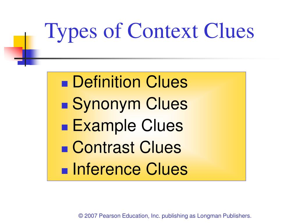 types of context clues pdf