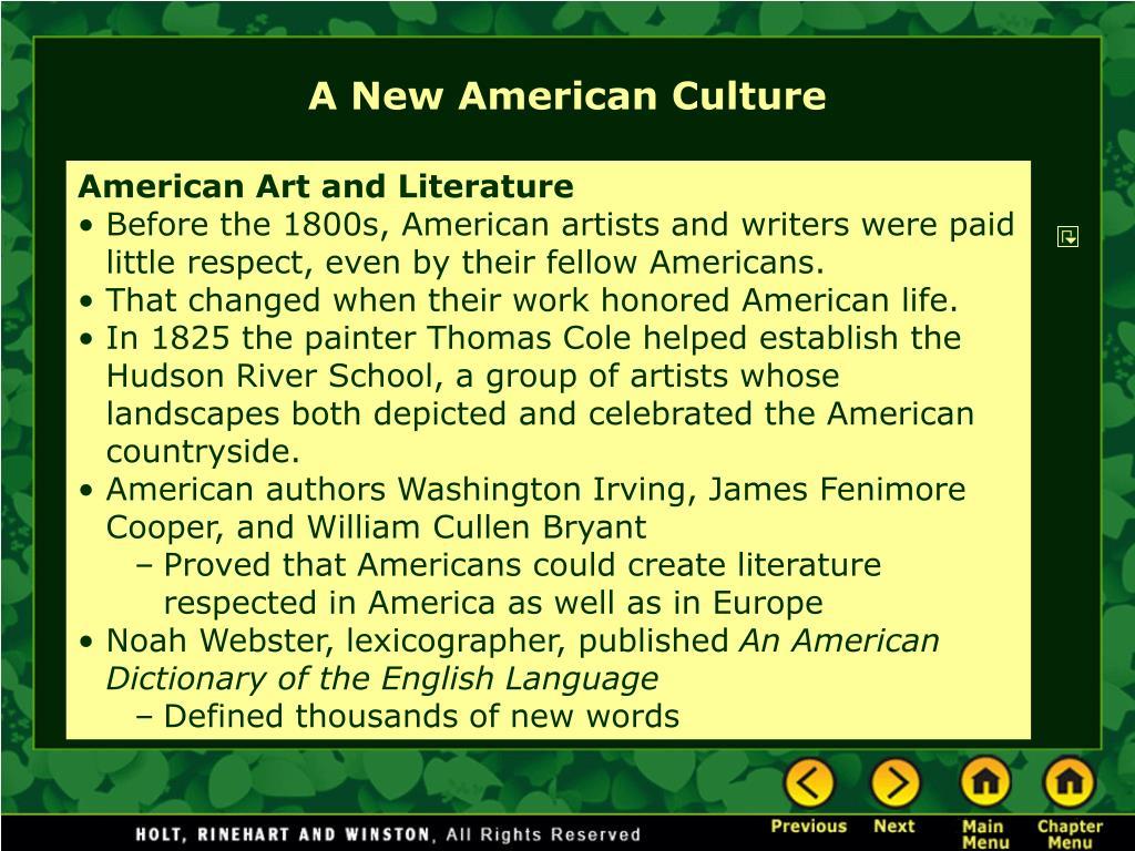 A New American Culture