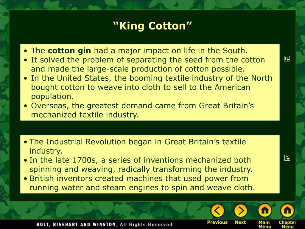 """King Cotton"""