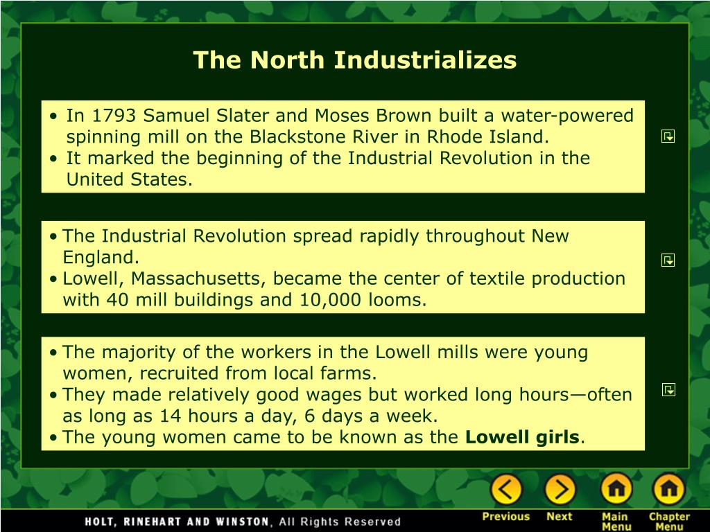 The North Industrializes