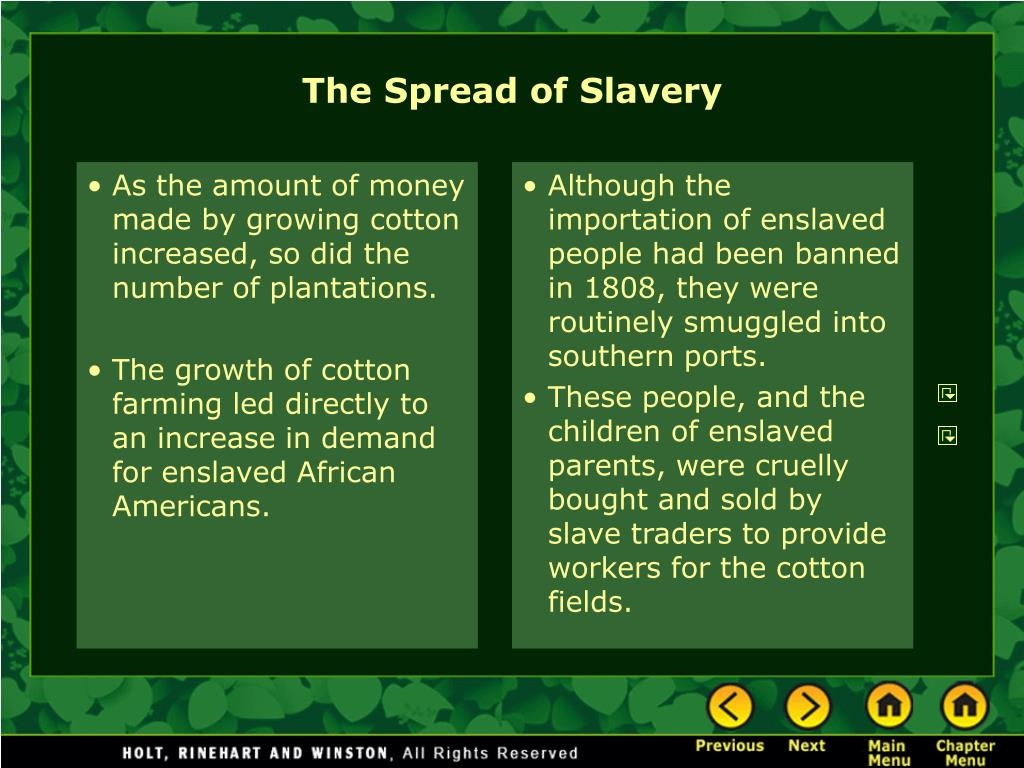 As the amount of money made by growing cotton increased, so did the number of plantations.