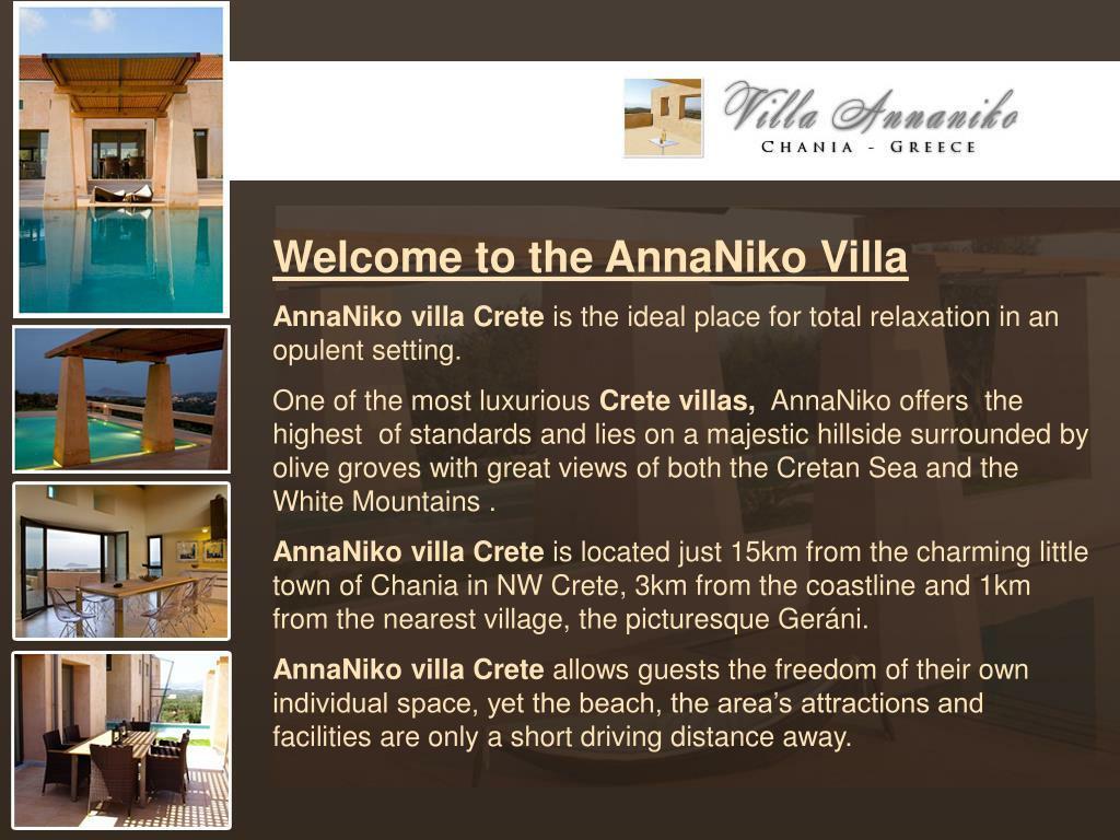 Welcome to the AnnaNiko Villa