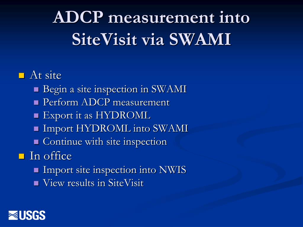 ADCP measurement into