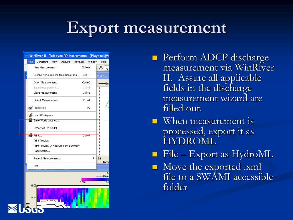 Export measurement