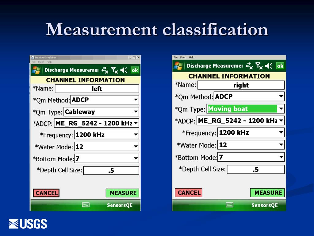 Measurement classification