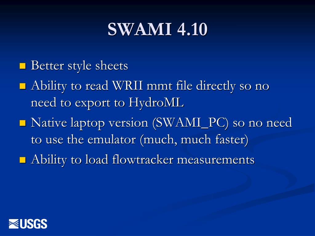 SWAMI 4.10