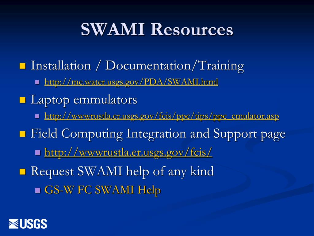 SWAMI Resources