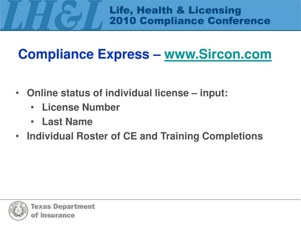 Compliance Express –