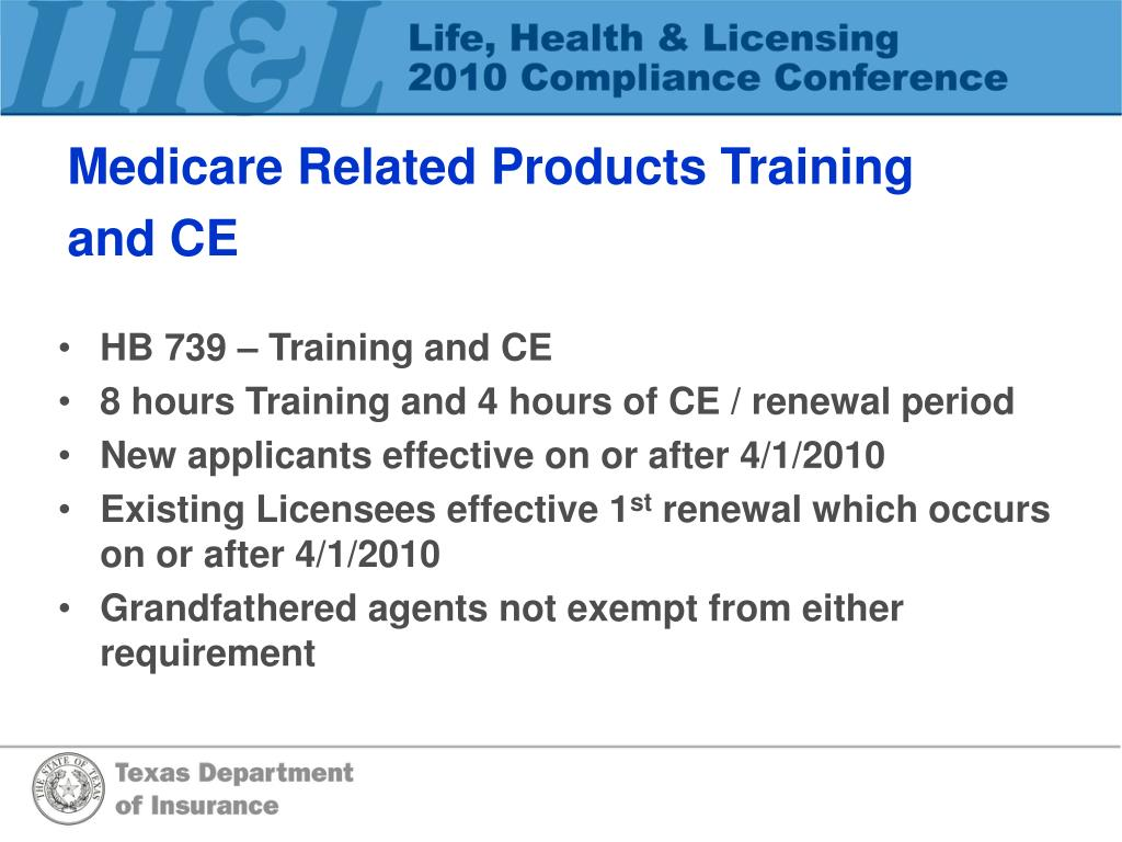 Medicare Related Products Training