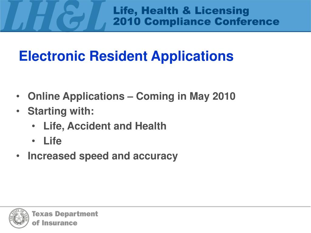 Electronic Resident Applications