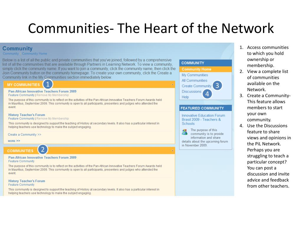 Communities- The Heart of the Network