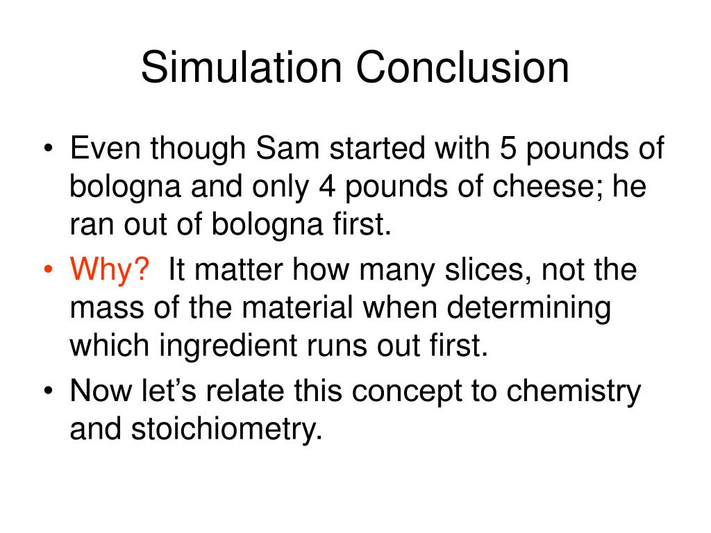 Simulation Conclusion