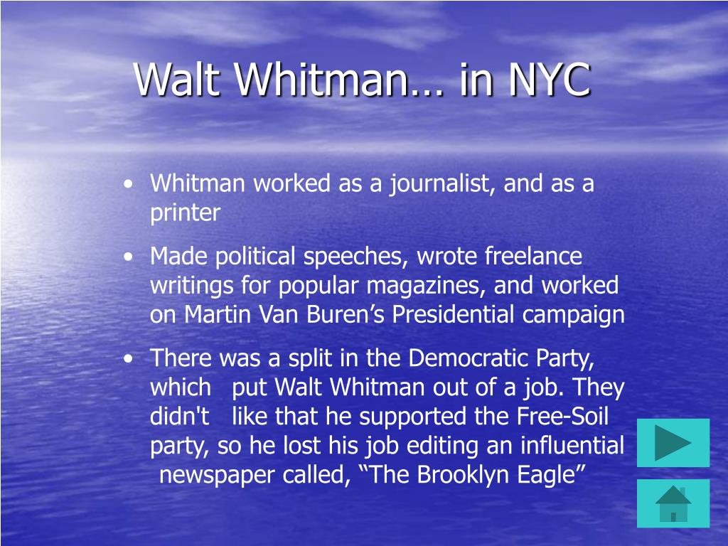 Walt Whitman… in NYC