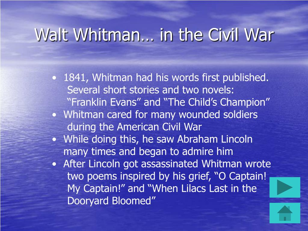 Walt Whitman… in the Civil War