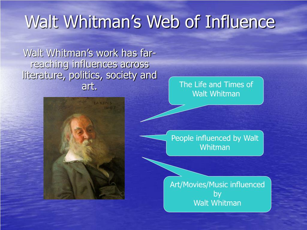 Walt Whitman's Web of Influence