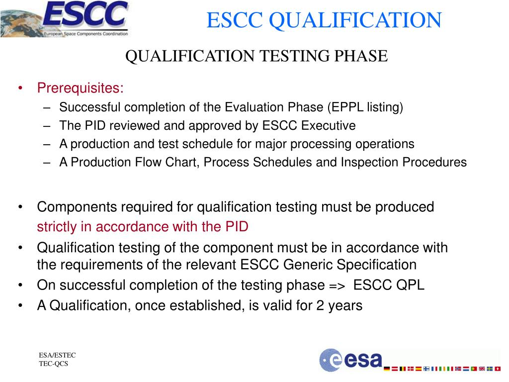 ESCC QUALIFICATION