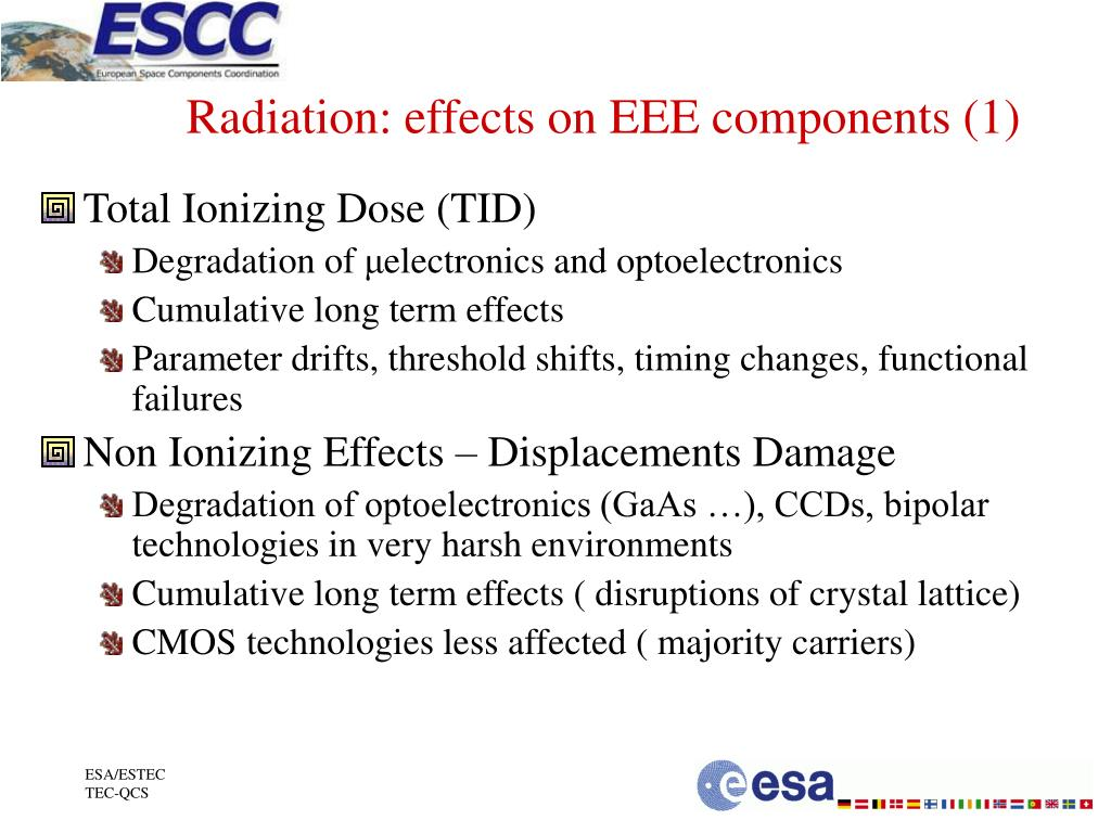 Radiation: effects on EEE components (1)