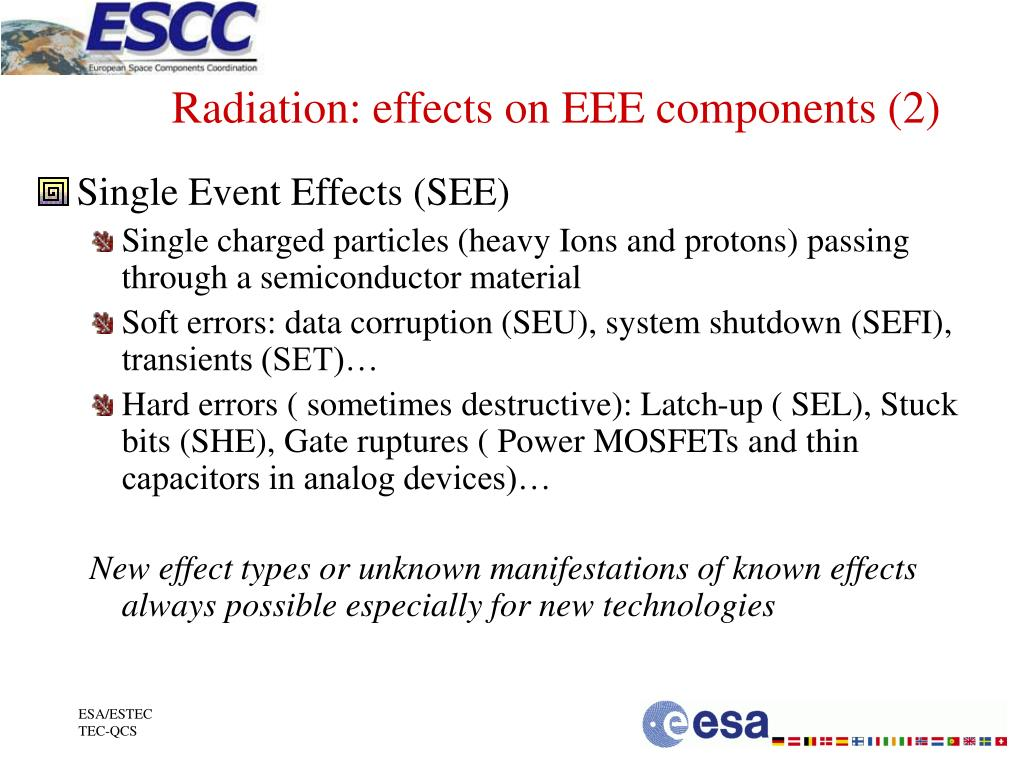 Radiation: effects on EEE components (2)