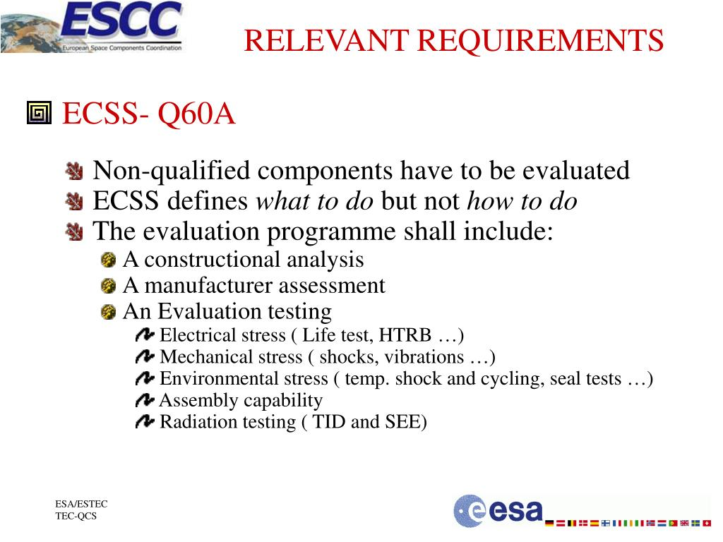 RELEVANT REQUIREMENTS