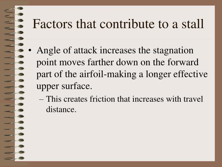 Factors that contribute to a stall l.jpg
