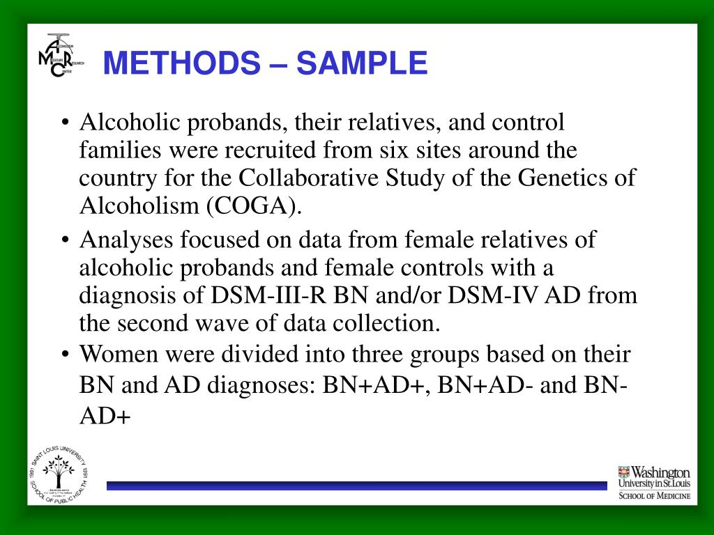 METHODS – SAMPLE