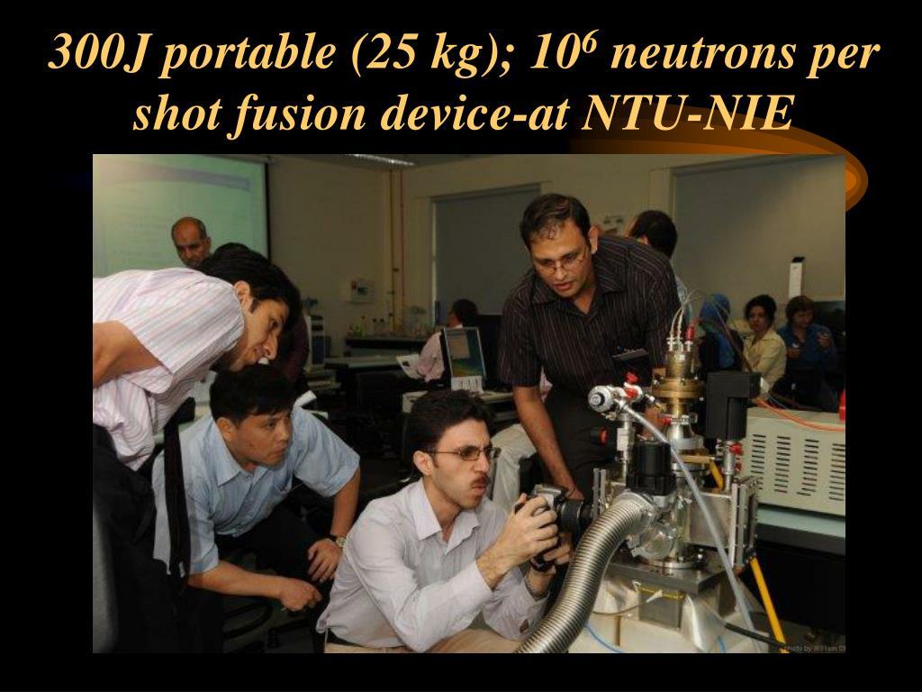 300J portable (25 kg); 10
