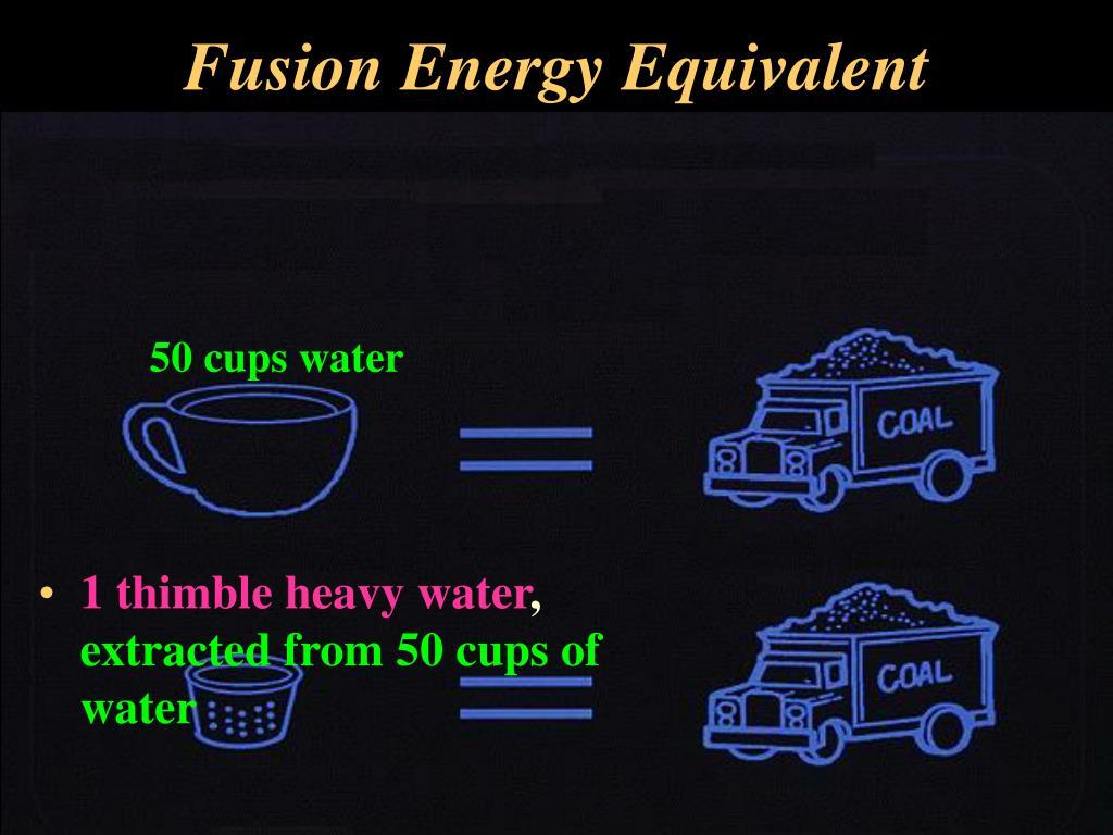 Fusion Energy Equivalent